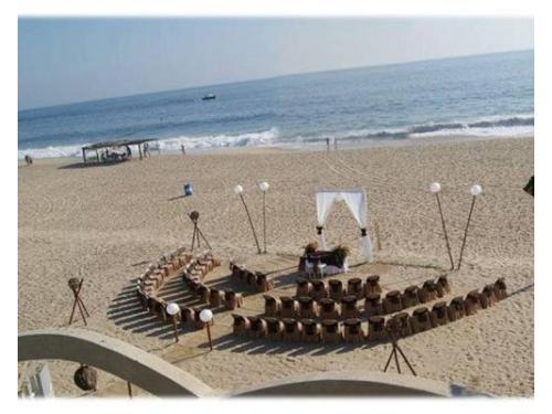 Para ceremonia en la playa