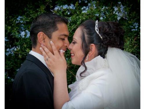 Románticas fotografías d elos recién casados