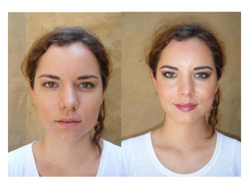 Maquillaje natural antes y después