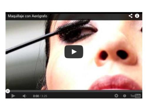 Video de maquillaje con aerógrafo en parkavenuenovias.com