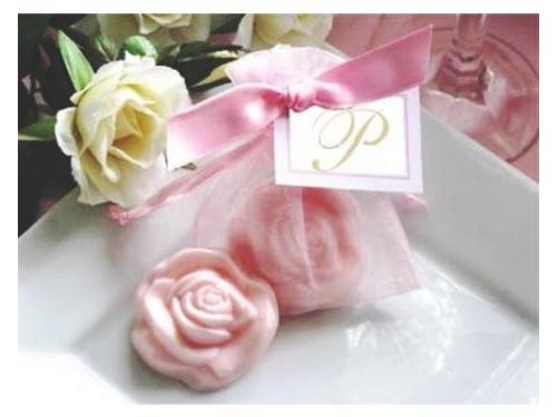 Jabón artesanal rosa