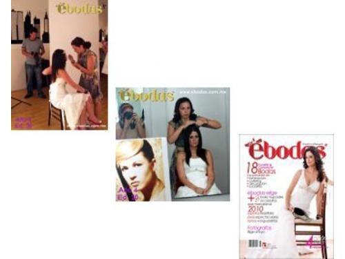 Participando en varias portads de revista