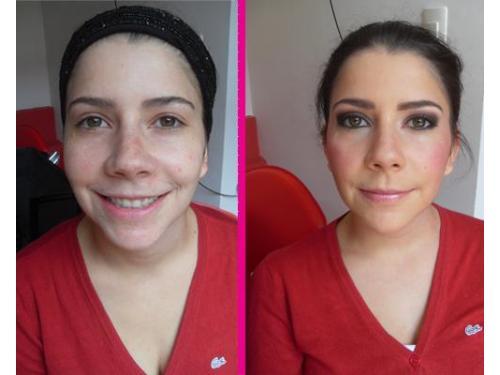 Antes y después: lindas sombras para los ojos