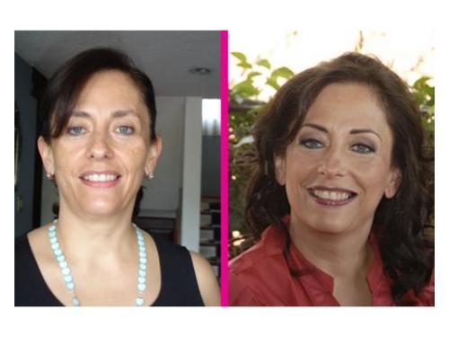 Antes y después: excelente maquillaje
