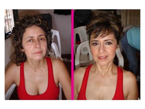 Antes y después: peinado para ese día importante