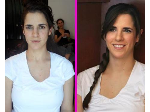 Antes y después: maquillaje y peinado
