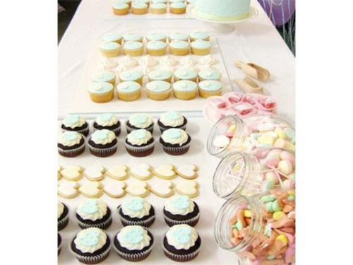Hilera de cupcakes