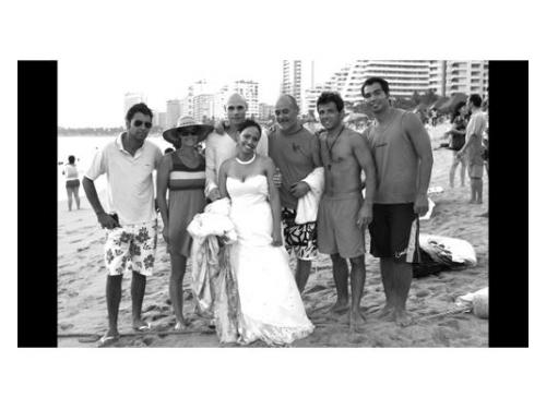 Novia en playa