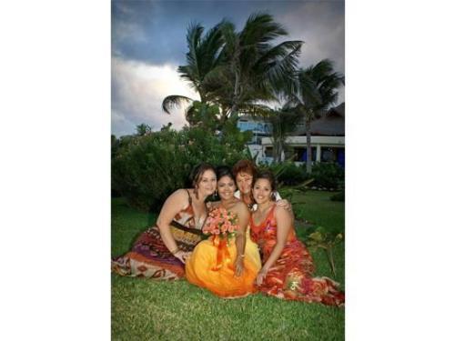 La novia con toda su familia