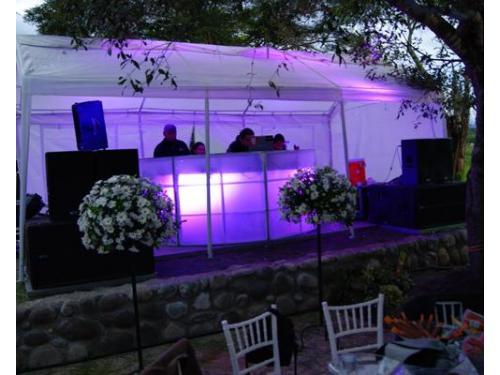 Cabina de dj para bodas