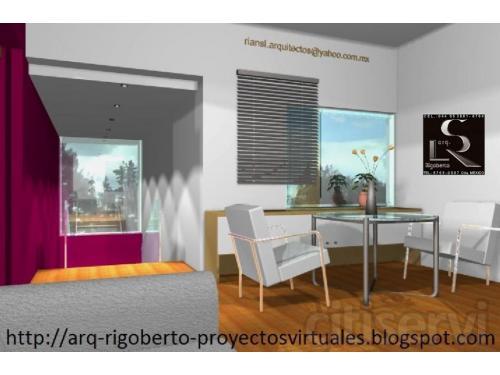 Dibujo de planos arquitectónicos y diseño de casas en renders