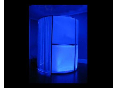 Cabina de fotos iluminada