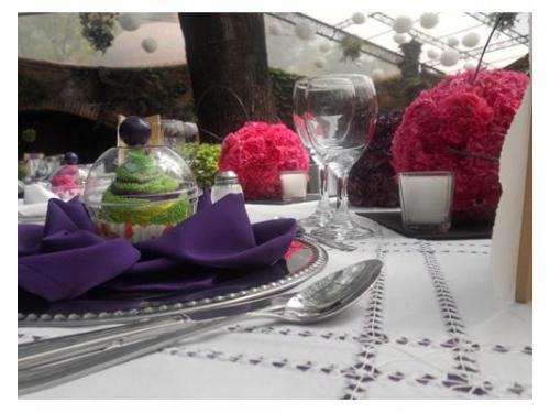 Centros de mesa coloridos