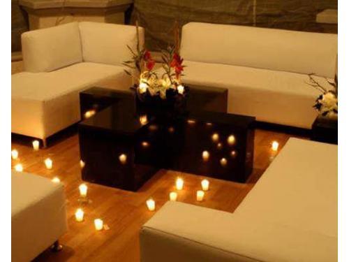 Montaje lounge iluminado