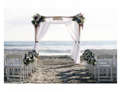 Montaje para tu boda en la playa
