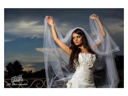 Original retrato de novia