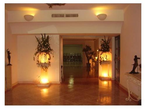 Iluminación en la recepción
