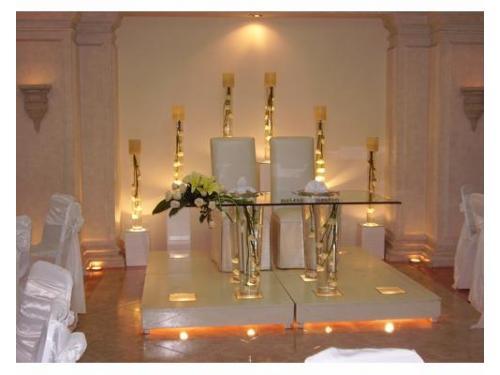 Mesa de honor con estilo