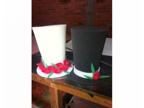 Sombrero novia y novio