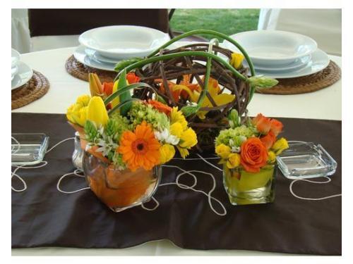 Centro de mesa colores primaverales.