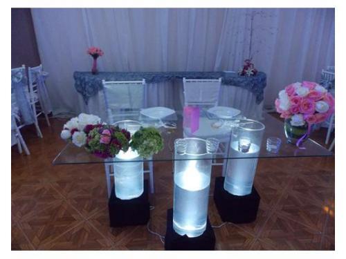 Floreros iluminados