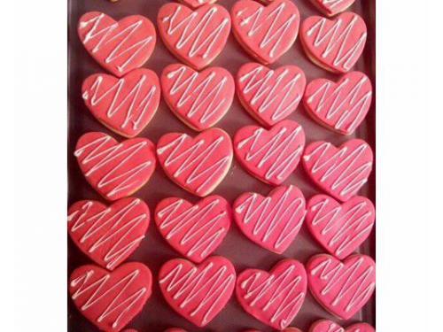 Galletas en forma de corazón