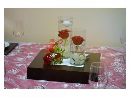 Centro de mesa flotante