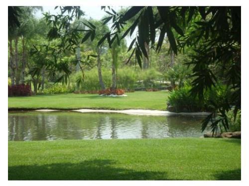 Lago en el jardín
