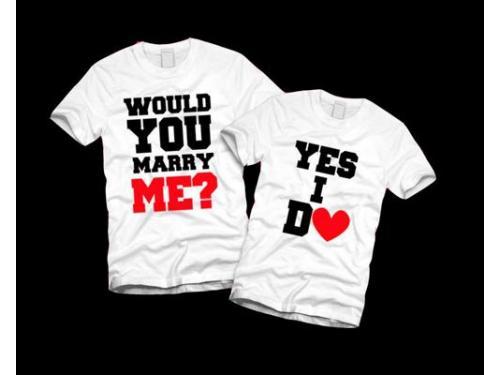 Playera propuesta de matrimonio