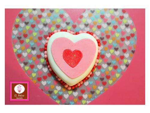 Pastel en forma de corazón