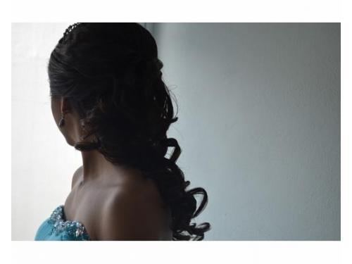 Peinado con cabello largo