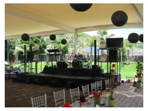 Escenario en boda