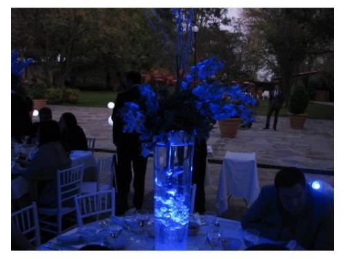 Iluminación en mesas