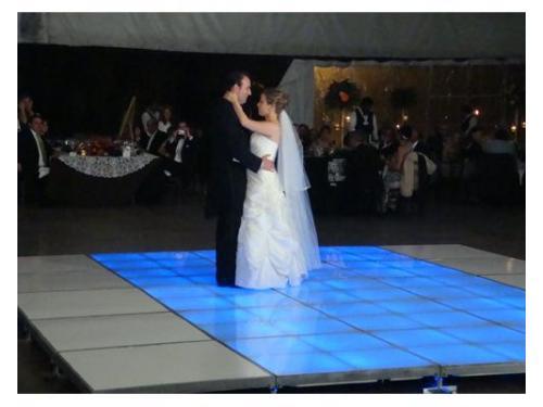 Pista de baile azul