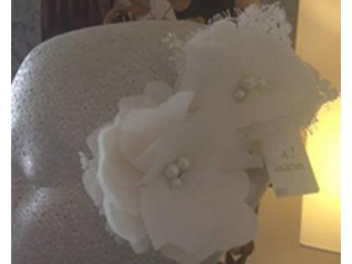 Flores con perlas