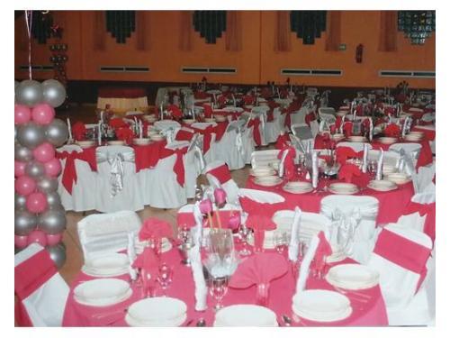 Montaje rojo y rosa
