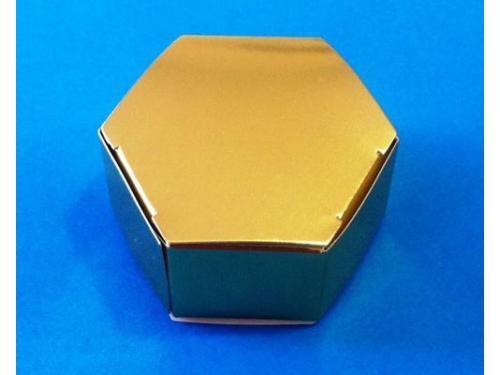 Cajita hexagonal oro