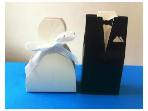 Cajas novia y novio