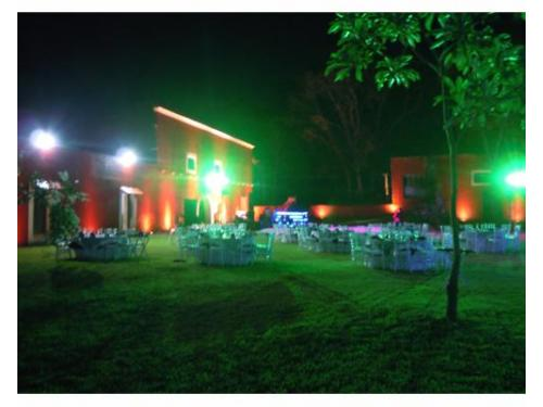 Jardin montado para boda
