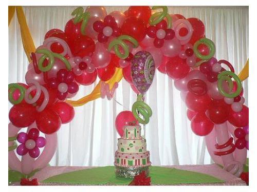 Arco de globos decorando