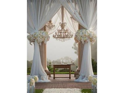 Decoración para boda civil