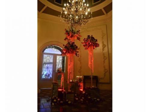Lobby con original decoración