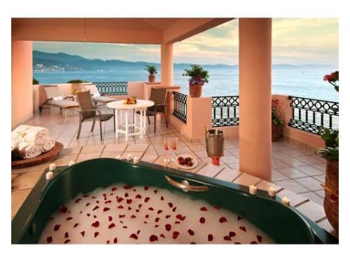 Terraza suite para luna de miel