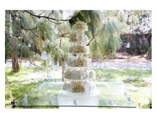 Mesa especial para el pastel de boda