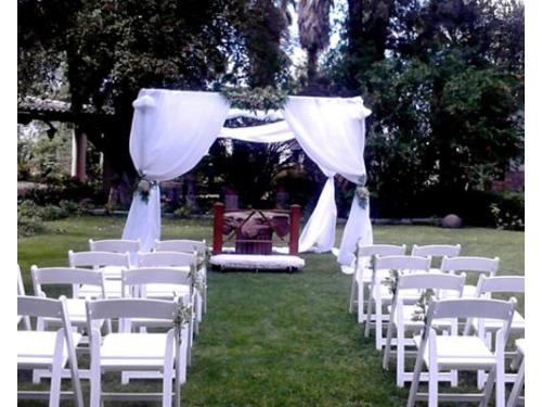 Exteriores decorados para ceremonia