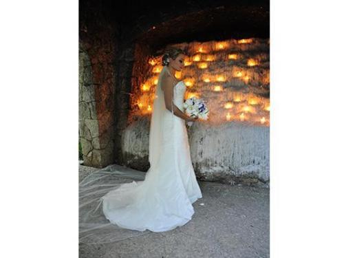 Retrato de novia con ramo