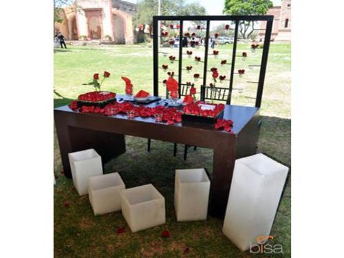 Mampara de cabecera de la mesa de los novios
