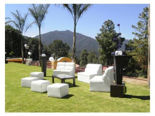 Área lounge en exterior