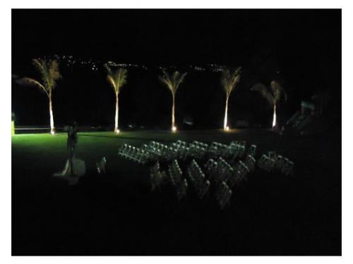 Montaje para ceremonia de noche
