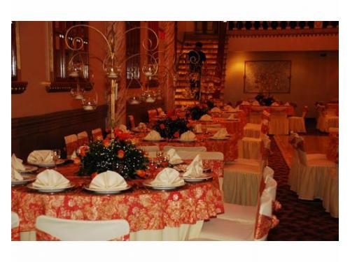 Elegante recepción para boda